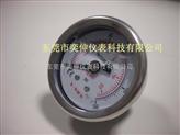 Y-SON牌40MM轴向充油表压力表