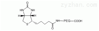 COOH-PEG-Biotin,生物素聚乙二醇羧基,Biotin-PEG-Carboxylic ac