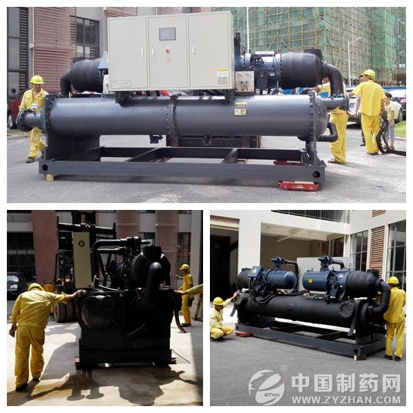 参展前公司产品出库准备装车-湖南凯利制冷盛装参加API China展